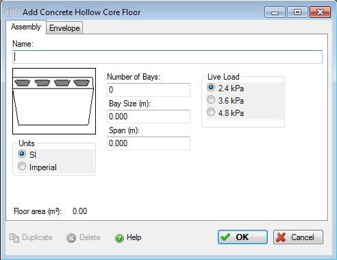 Add or Modify a Concrete Precast Hollow Core Floor