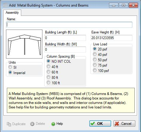 Add Or Modify A Metal Building Systems Columns Amp Beams