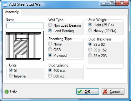 Add or Modify a Steel Stud Wall Assembly