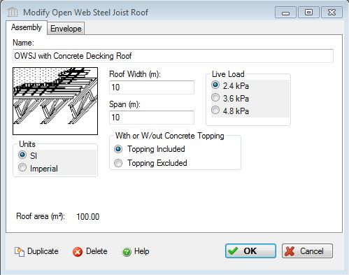 Add Or Modify An Open Web Steel Joist With Metal Decking Roof System