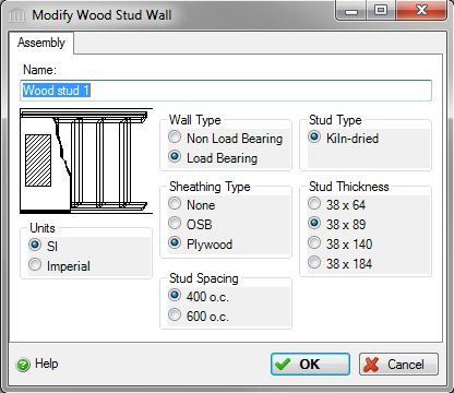 Add or Modify a Wood Stud Wall Assembly