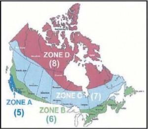ASHRAE Regions - Canada